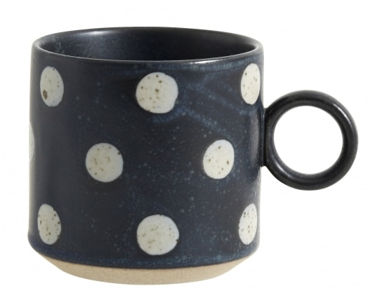 Grainy Cup Blauw Sand Dots