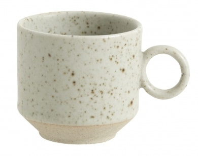 Grainy Esspresso Cup With Handle Sand